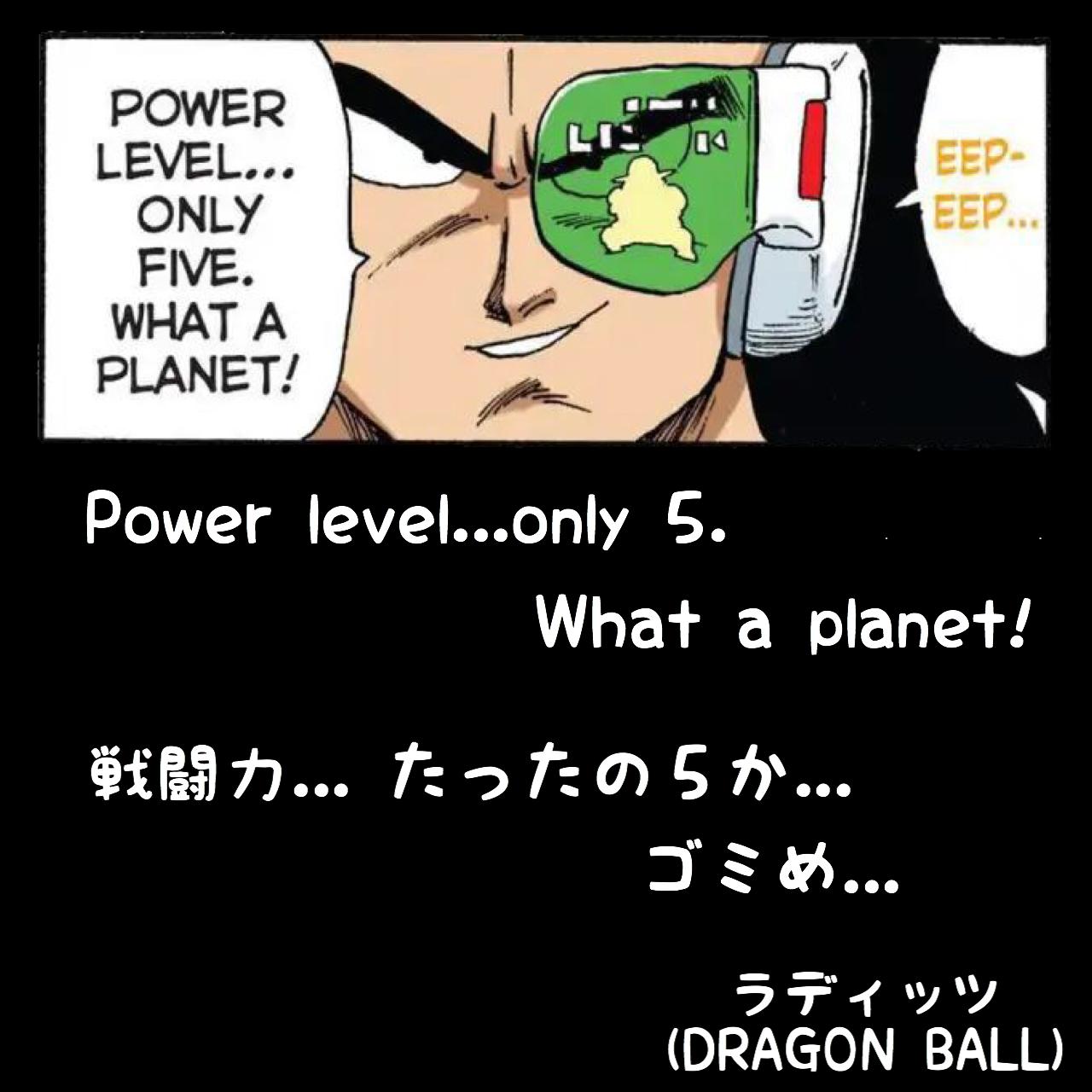戦闘力...たったの5か... ゴミめ... / ラディッツ(DRAGON BALL)(DRAGON BALL)