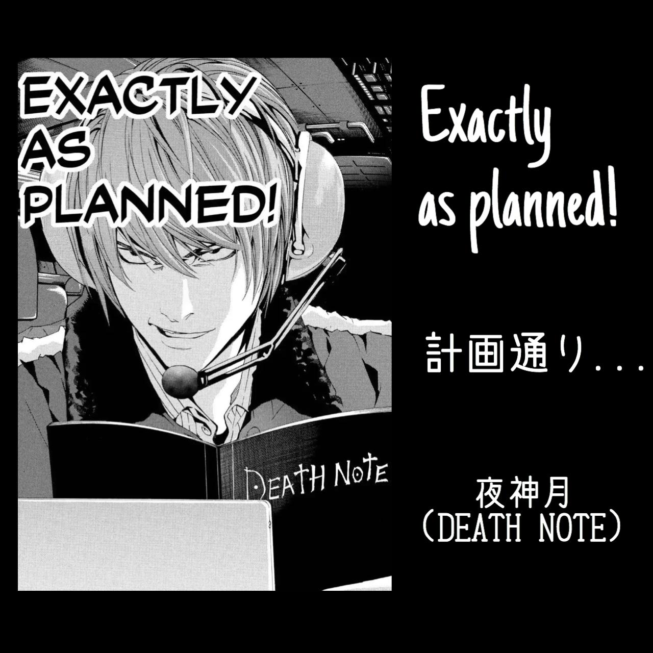 計画通り / 夜神月(DEATH NOTE)